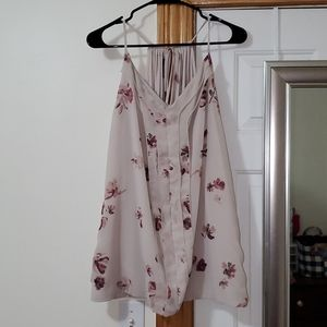 Maurices plus size 3 floral dress shirt